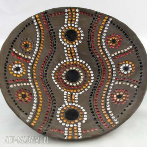 ceramika patera australia, patera, aborygeni, ceramika, prezent, rękodzieło dom