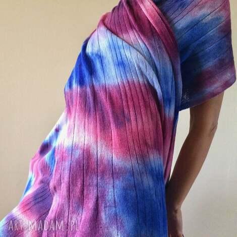 ciepły wełniany szal, szalik, kolorowy, unikatowy, miękki