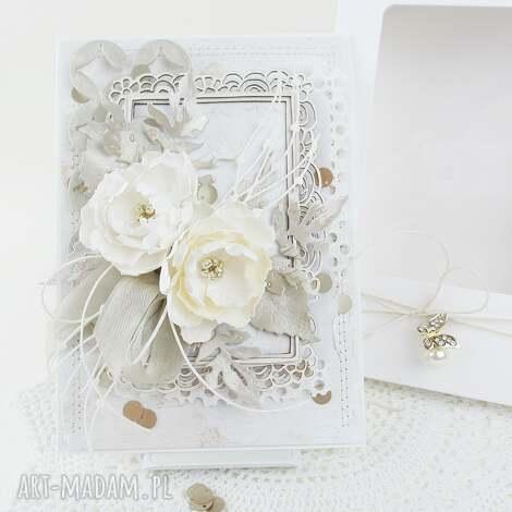 cream gold - w pudełku ślub, życzenia, gratulacje, podziękowanie, rocznica, para