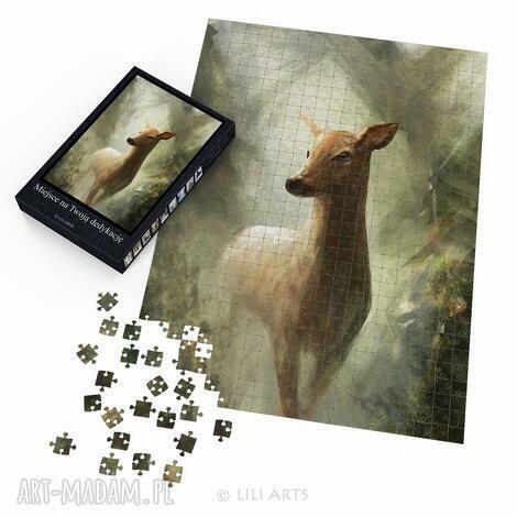 liliarts puzzle - sarna 60x42 cm 600 elementów, puzzle, układanka, sarna, sarenka