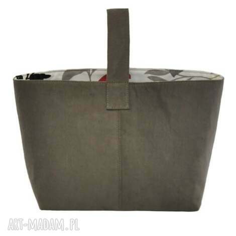 13-0002 szara torebka damska do ręki shopper bag / na zakupy toucan, oryginalne