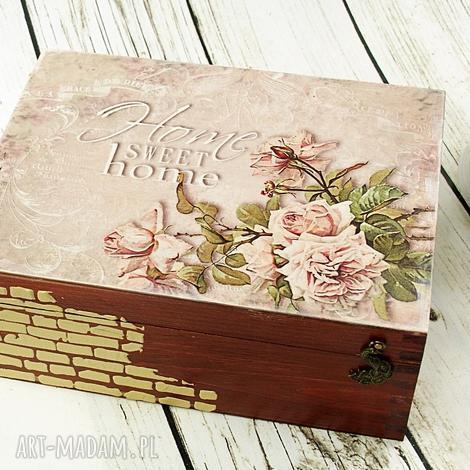 pudełka różana szkatułka/herbaciarka, szkatułka, pudełko, herbaciarka, róże, drewno