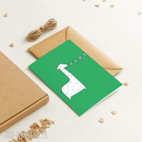 ekologiczna kartka okolicznościowa urodzinowa / dla dzieci krans, minimalizm