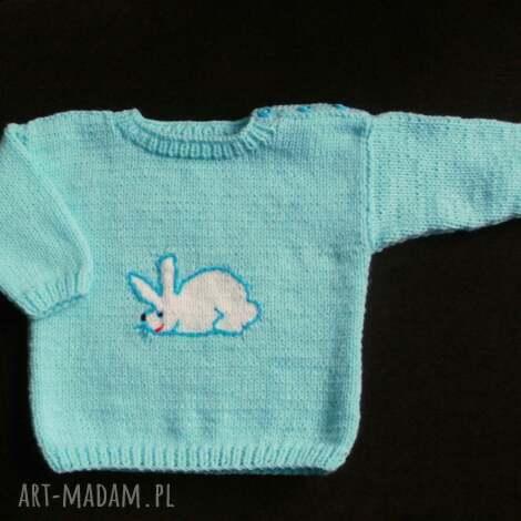 gaga art sweterek króliczek, sweterek, włóczka, rękodzieło dla dziecka