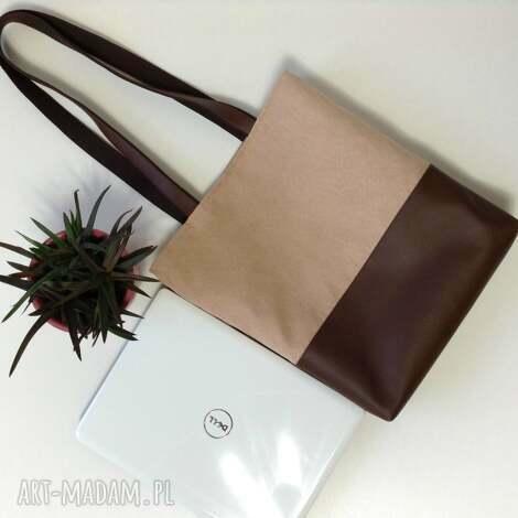 torba na ramię - torba, torebka, sak, praca, laptop