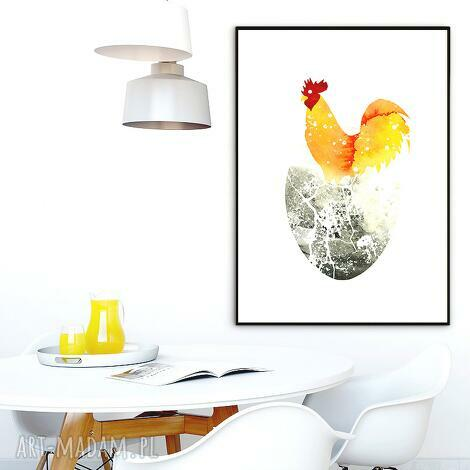 art print a4, kuchnia, kogut, obraz, ilustracja, plakat dom