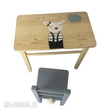 wnętrze z gustem stolik i krzesełko dla dziecka owieczka, stolik dla dziecka