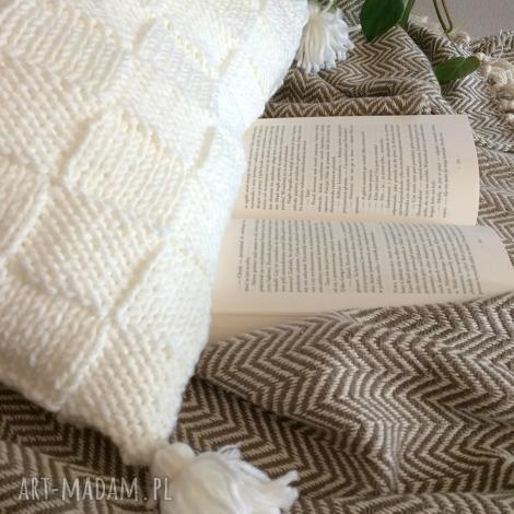 poduszki poduszka quatro z frędzlami - 50x50 cm, boho, poduszka, frędzlami