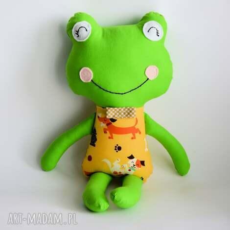 maskotki żabka - elegant antoś 46 cm, żabka, chłopczyk, piesek, maskotka