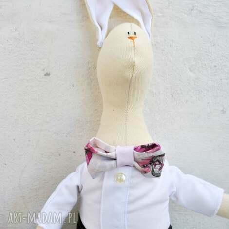 pan królik, zabawka, maskotka, dla, dziecka, prezent