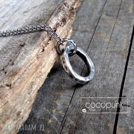 naszyjnik kÓŁko dŁugi-grube koŁo,srebro 925 - geometryczny, kółko