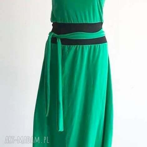 green point-kombinezon sukienka, boho spodium, folk kombinezon, spodnie