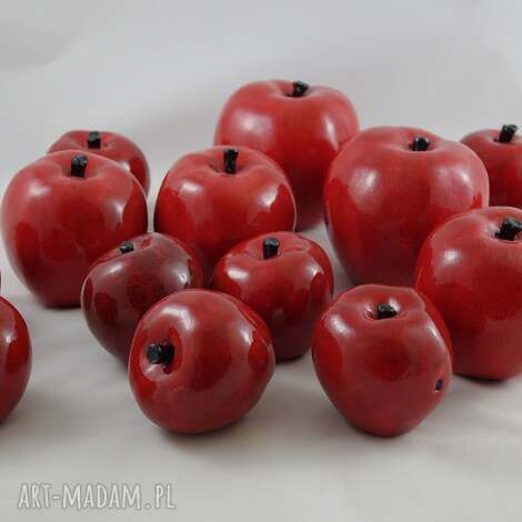jabłko ceramika - rękodzieło , ceramika, rękodzieło, jabłka, prezent, owoce dom