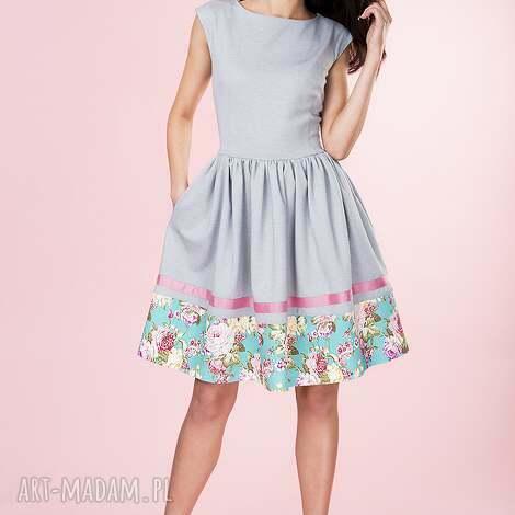 sukienki rozkloszowana sukienka w kwiaty provance, sukienka, rozkloszowana,
