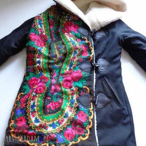 kurtka na wełnie folk design - folk
