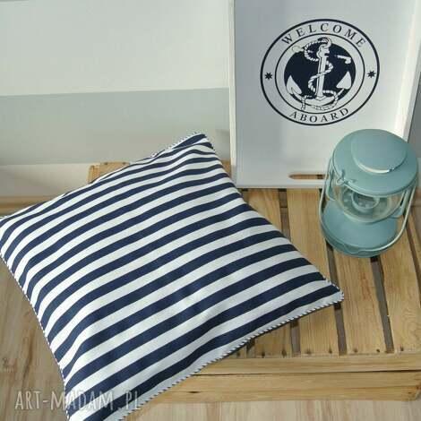 poszewka na poduszkę w stylu marine - paski - poduszka, paski, marine, marynarska