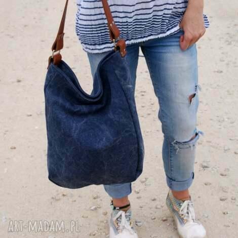 na ramię iks granat płótno, torba, worek, lato, plaża torebki, oryginalne