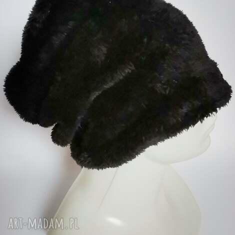 Ruda Klara: czapka ruska czarna futrzana uniwersalny włos krótki, na podszewce polecam box