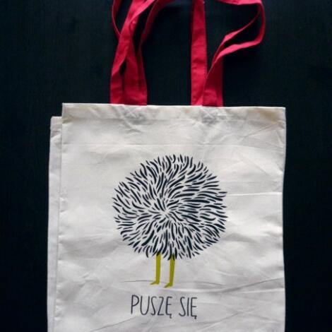 puszę się zielony, torba, design, prezent