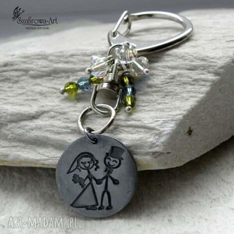 młoda para - para, ślub, panieńskie, prezent, brelok, klucze