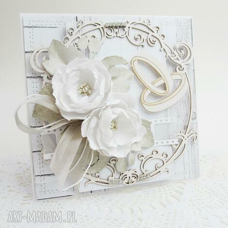 marbella - kartka z kwiatami - w pudełku (ślub, życzenia, gratulacje, podziękowanie)