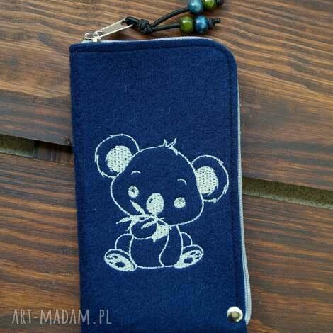happyart filcowe etui na telefon - koala, smartfon, pokrowiec, futerał, prezent