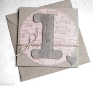 Na roczek:: liski:: kartka handmade kartki kaktusia roczek