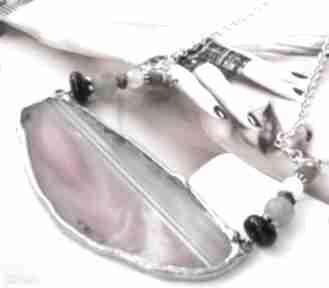 naszyjniki Naszyjnik z agatem: różowy