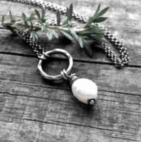 Naszyjnik z perłą - srebro 925 naszyjniki cocopunk perłą, modny