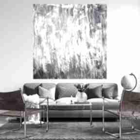 Obraz ręcznie malowany 120x120 byferens duży obraz, sztuka