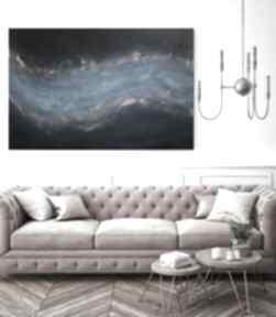 Abstrakcyjny obraz ręcznie malowany - connected 60x90 cm