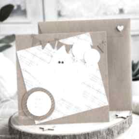 Wesoła kartka z królikiem na każda okazję scrapbooking kartki