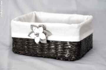 Prostokątny koszyk eko koszyczek kwiatuszkiem pudełko prezent