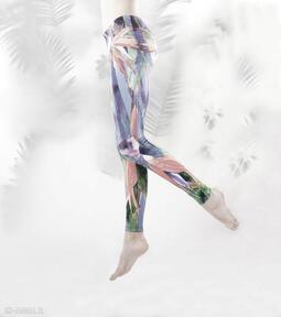 Legginsy rajski ptak manifesto art legginsy, sztuka, kolorowe