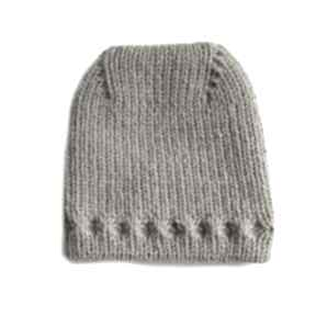 Czapka z uniesioną górą czapki mondu czapka, wełniana, dziergana