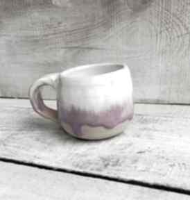 Kubek ceramiczny kamionkowy różowy walentynki kubki kmdeka