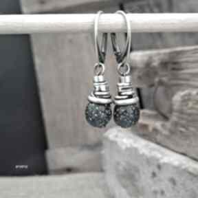 Szkło z ghany - kolczyki 01 arvena szkło, z-ghany, biżuteria