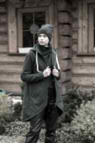 TrzyForU: Bluza -płaszcz longline zielona