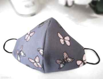 Maseczka w motylki kasia miciak design maseczka, bawełna