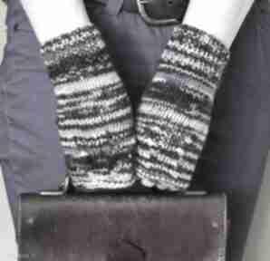Mitenki szare z turkusem rękawiczki jaga11 miękkie, wygodne,
