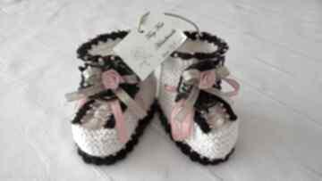 Buciki niemowlęce - folk tiny feet buciki, kapciuszki,