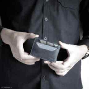 Portfel skórzany na karty ręcznie szyty portfele wildleather