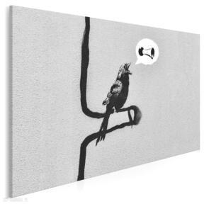 Obraz na płótnie - banksy ptak 120x80 cm 20020 vaku dsgn banksy