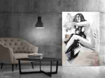 Nude 100x70 dom galeria alina louka duży obraz akt, akt kobiecy