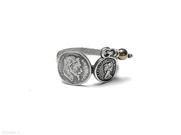 Numizmaty - pierścionek katia i krokodyl srebro, numizmaty