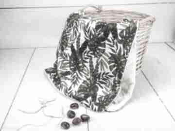 Delikatny kocyk velvet botaniczne liście pokoik dziecka