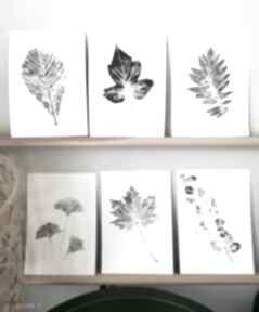 6 x odcisk liścia plakaty wooden love roślina, liść, leśny