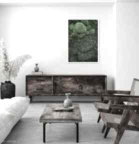 Obraz z prawdziwego, naturalnego mchu trójwymiarowy zielony