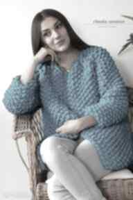 swetry. sweter dziergany chunky gruby druty