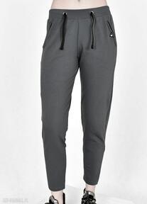 Spodnie dresowe waleria ciemno popielate trzyforu spodnie